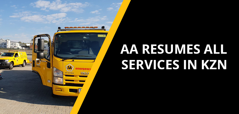 AA resumes all services in KwaZulu-Natal